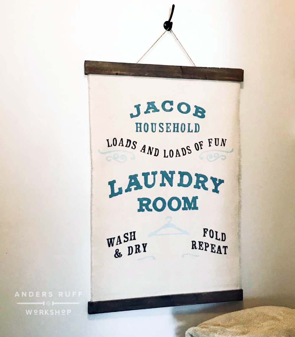 loads of fun laundry room canvas wall hanging