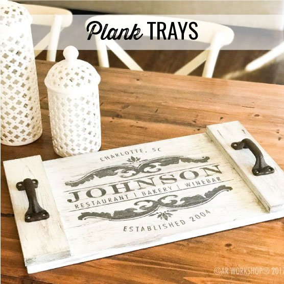 plank trays projects