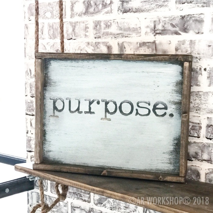 typewriter font - your word - 14x18 framed sign (any word) purpose