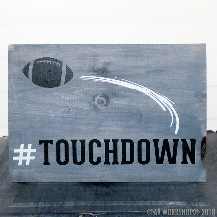 touchdown football youth plank sign