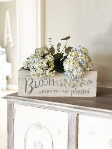 """bloom where you are planted centerpiece box 16"""""""