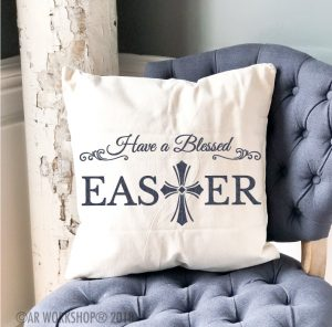 have a blessed easter pillow