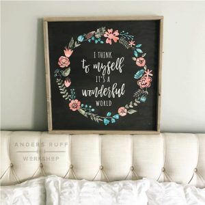 its a wonderful world framed sign