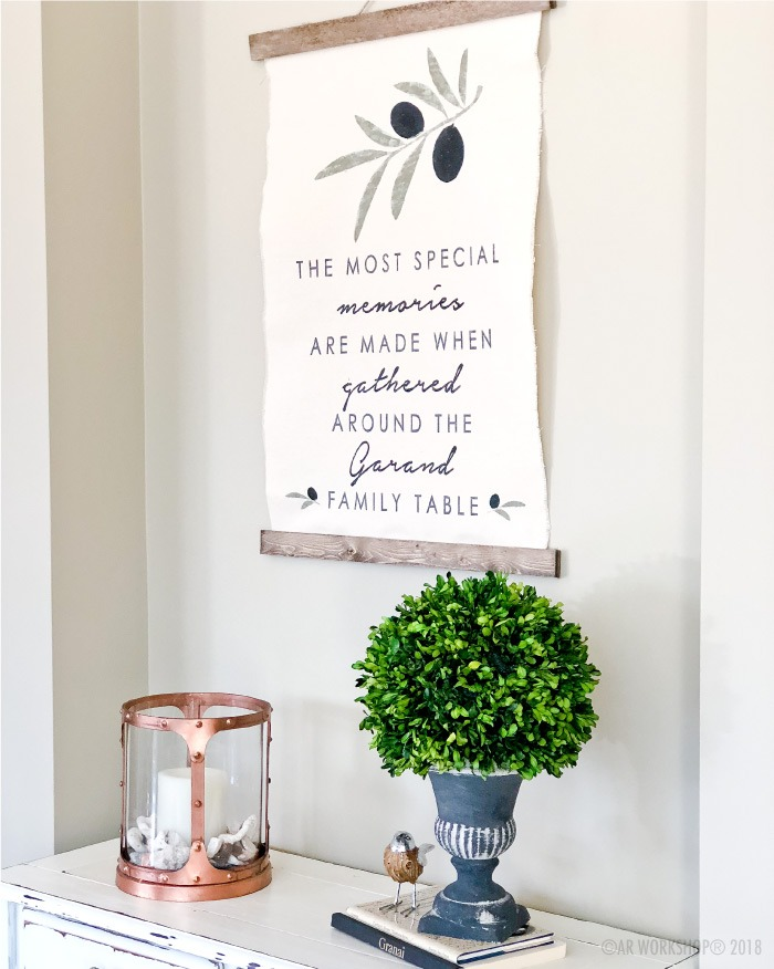 the most special memories are made canvas wall hanging
