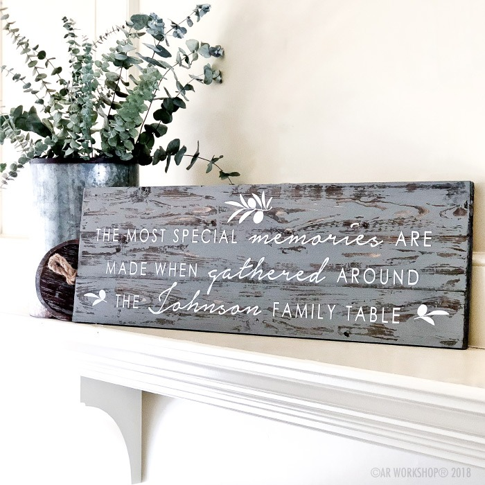 the most special memories are made plank wood sign 10.5x32