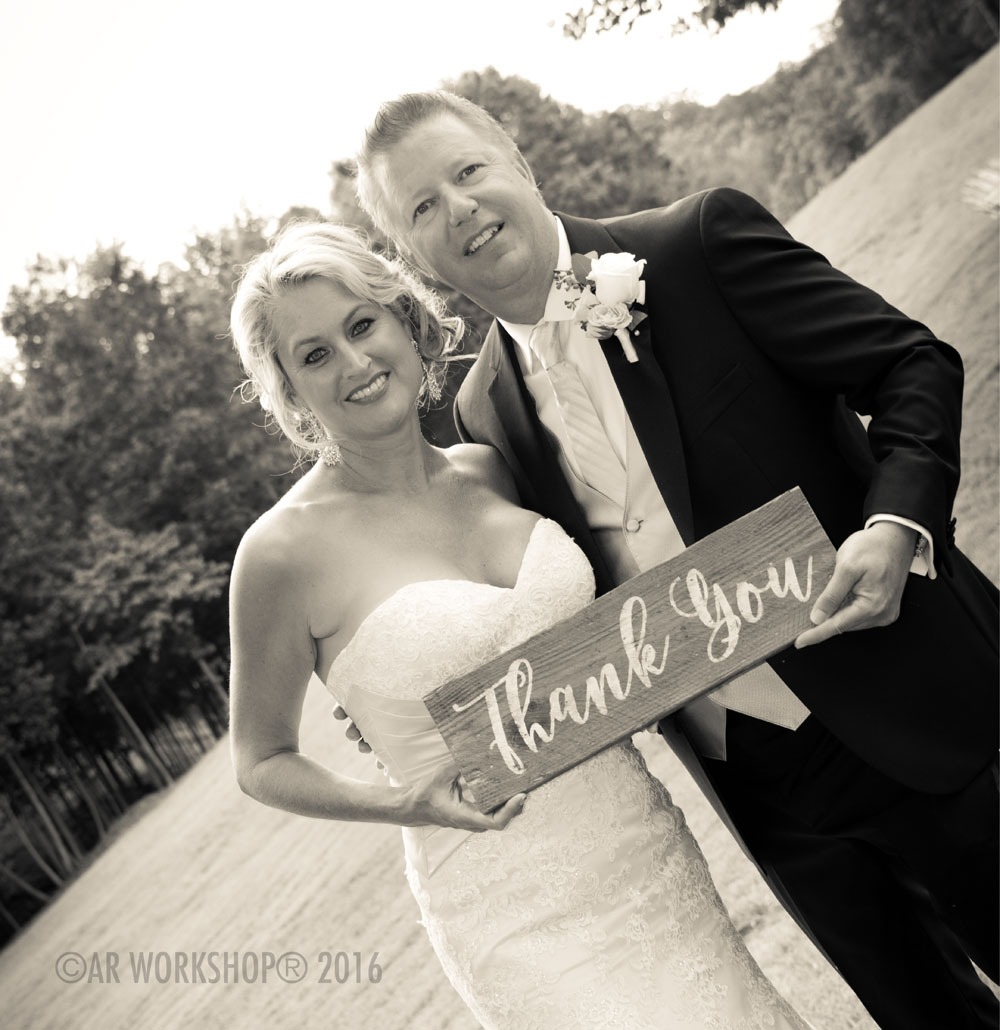 Wedding Thank you plank sign 6x18