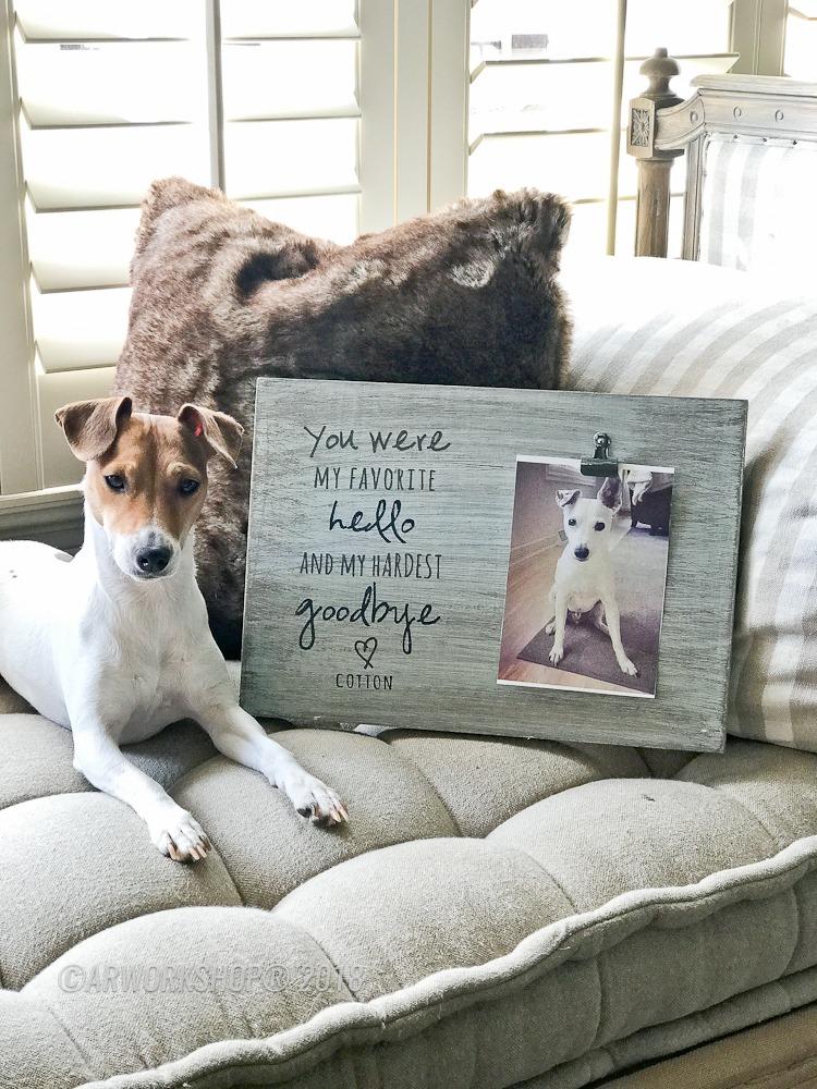 Favorite Hello Hardest Goodbye Pet Wood Photo Frame memorial