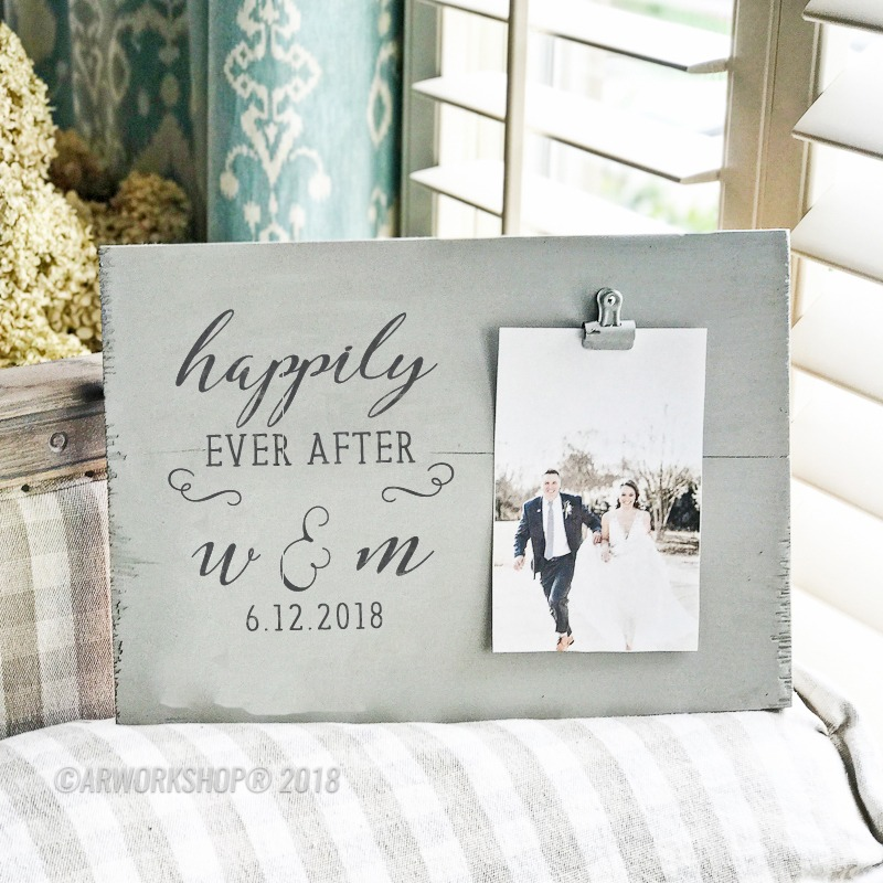 Happily Ever After Wood Photo Frame