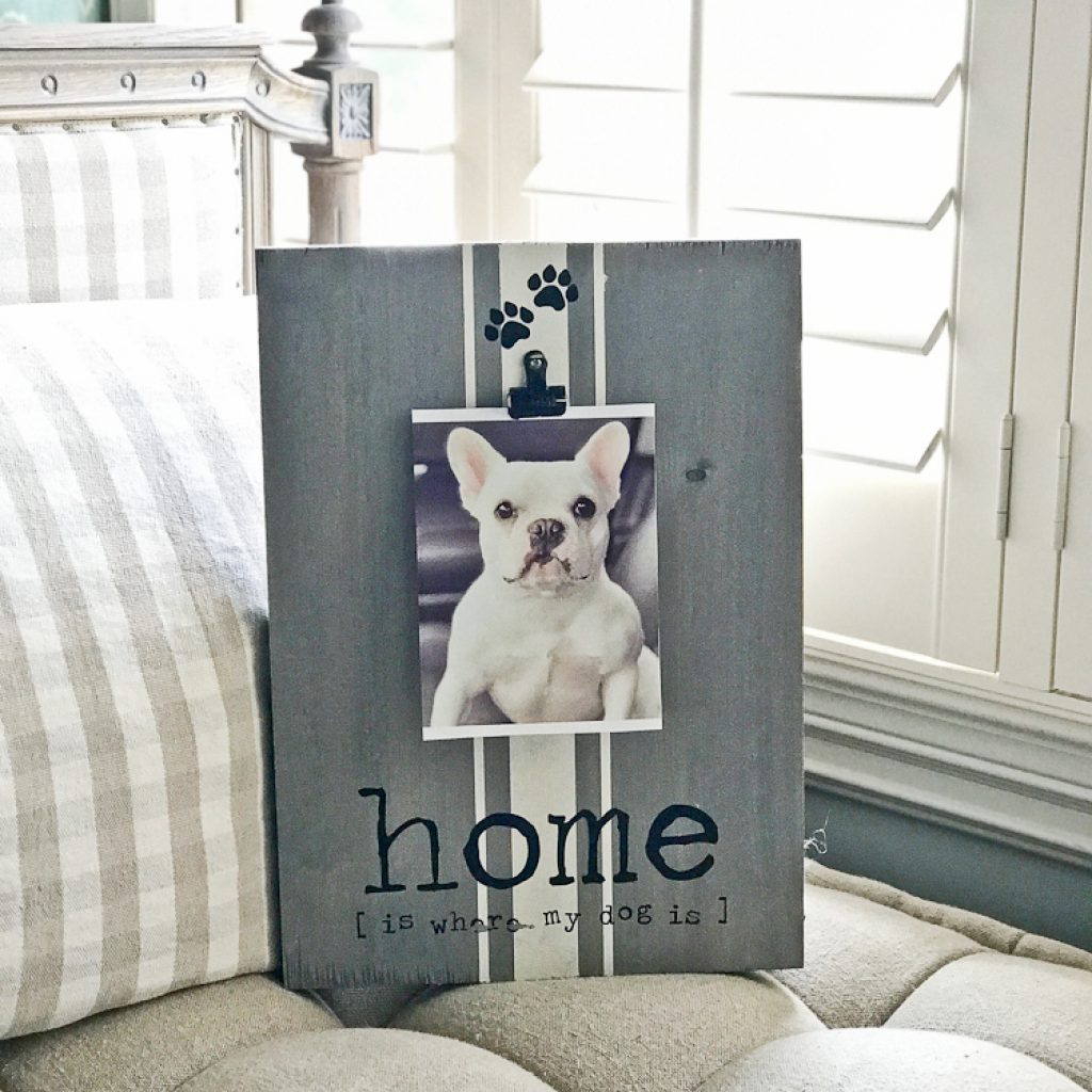 Home is where my Dog is Wood Photo Frame