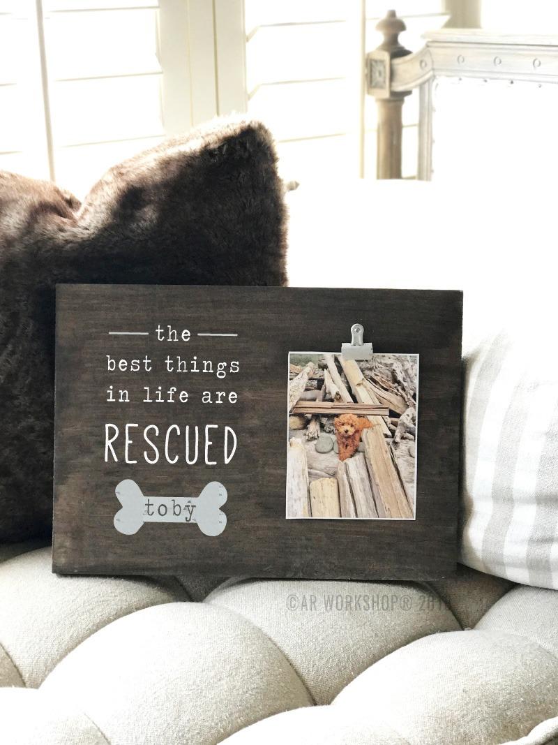 Rescue Dog Wood Photo Frame