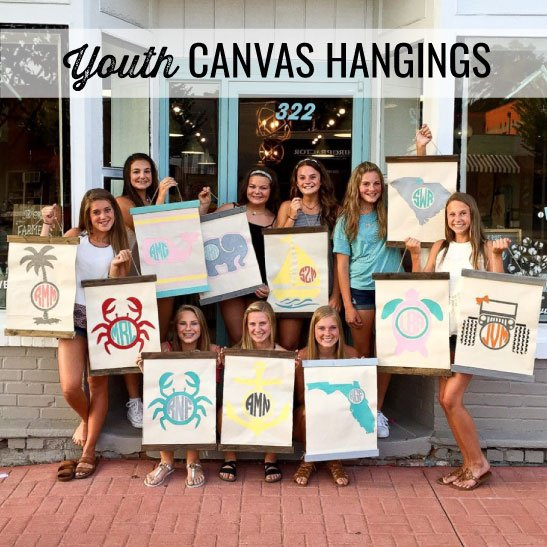 youth canvas hangings