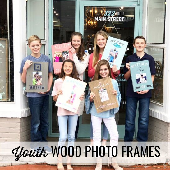 youth wood photo frames