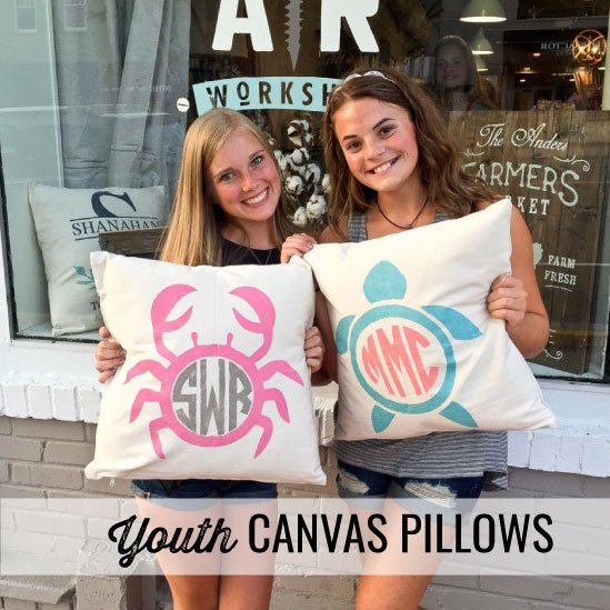 youth canvas pillows