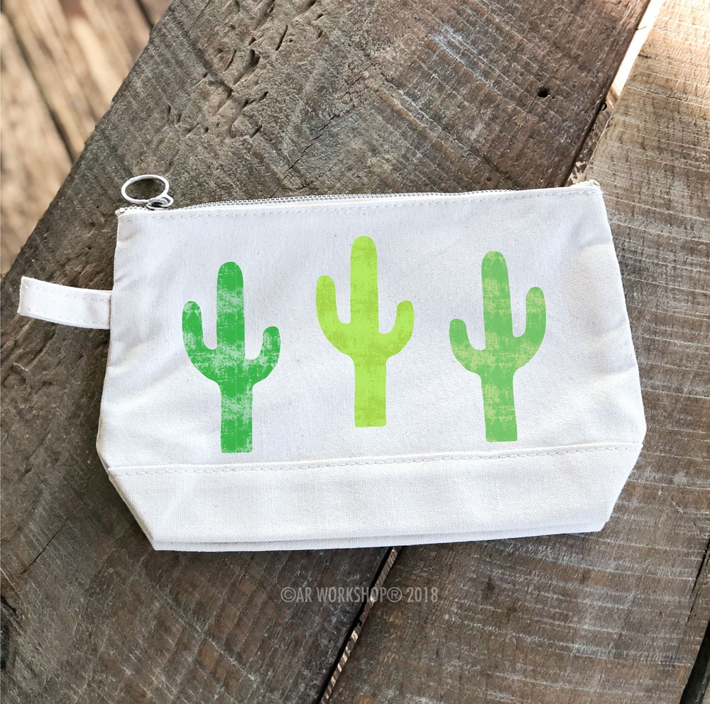 Cactus Trio Makeup Case