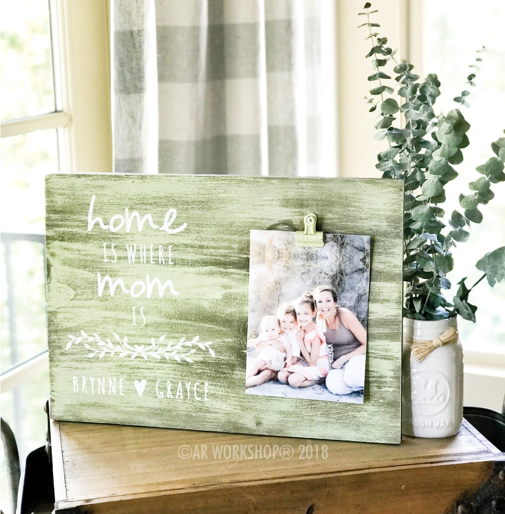 Home is Where Mom is wood photo frame