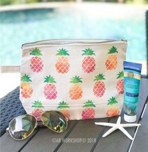 Pineapple Pattern Makeup Case