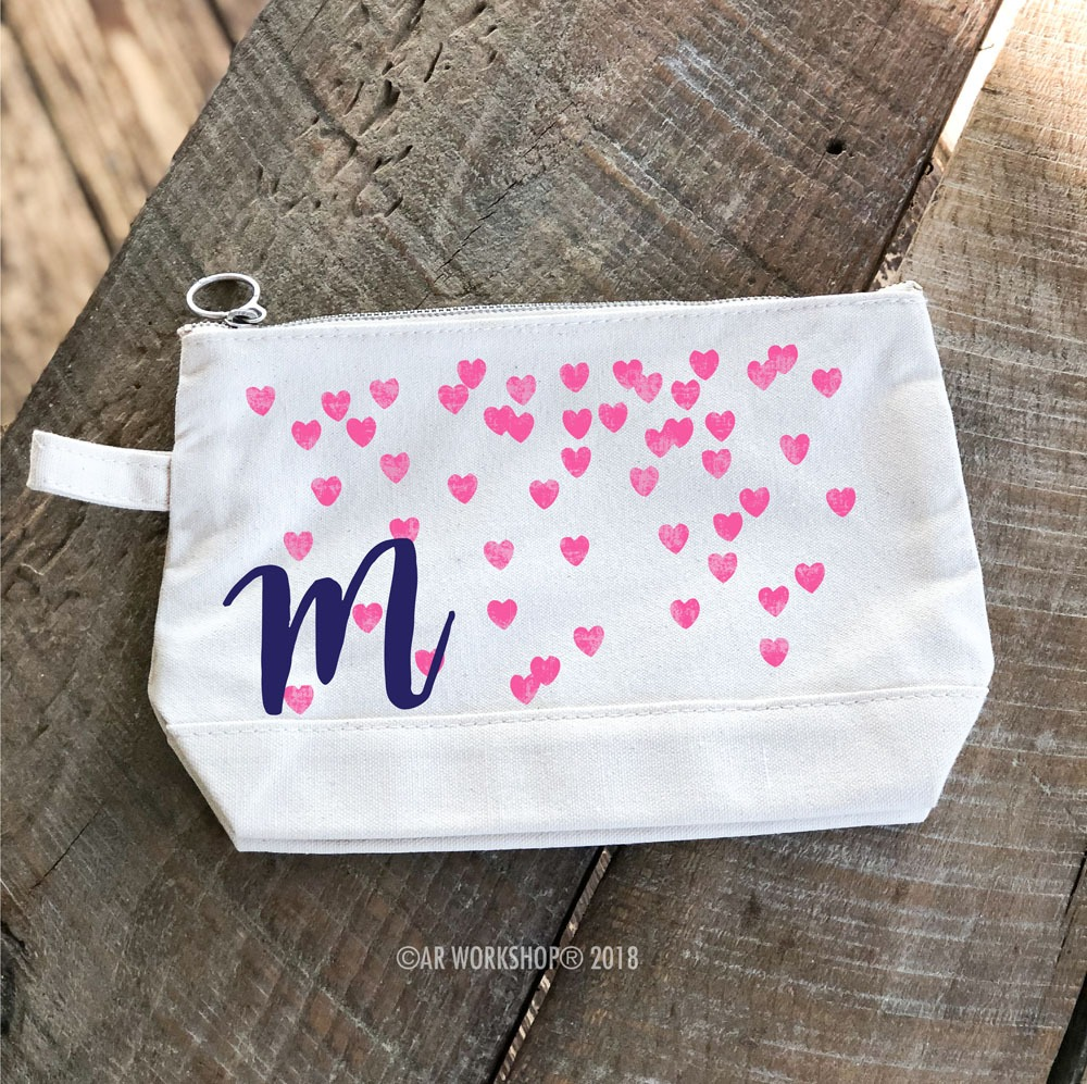 Monogram Hearts Makeup Case