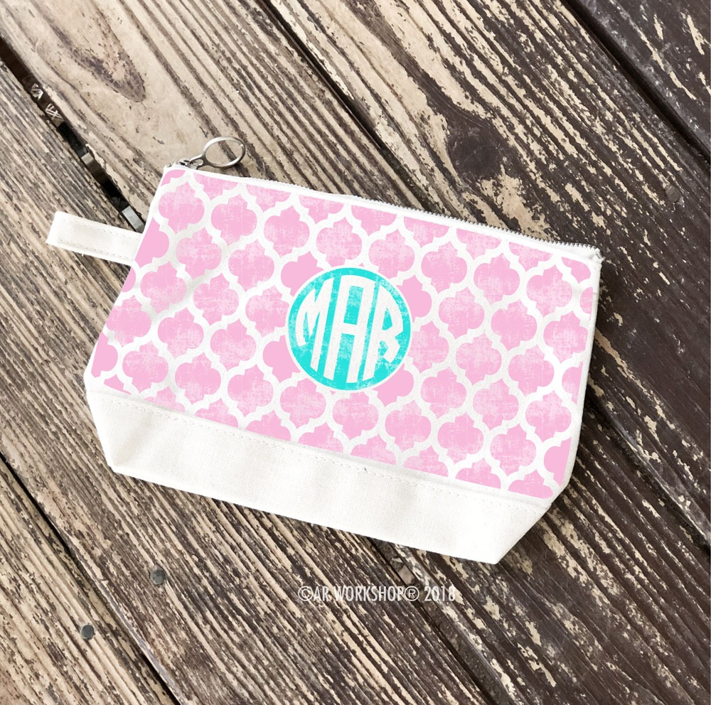 Monogram Trellis Makeup Case