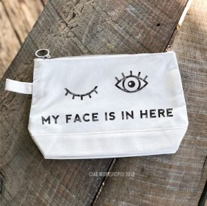 my face is in here makeup case