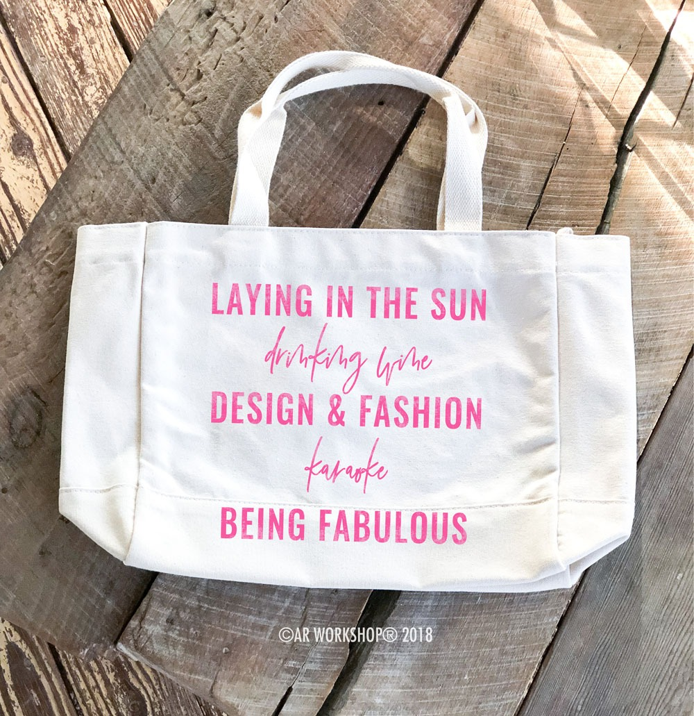 my favorites tote bag (enter your 5 favorites at checkout)
