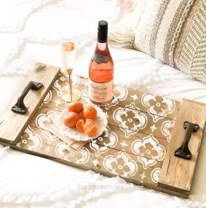 wood plank morocaan tray