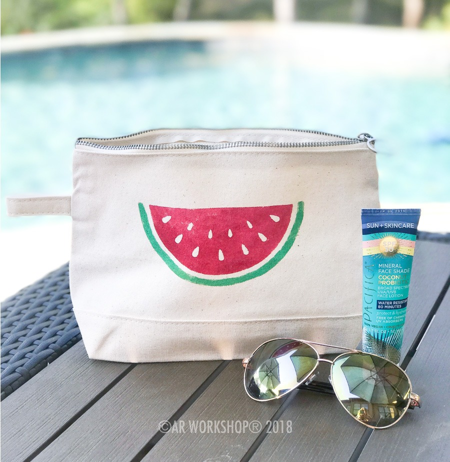 Watermelon Half Makeup Case