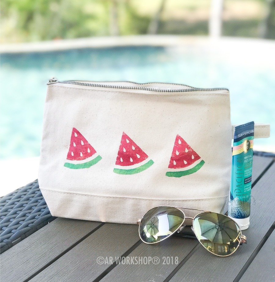 Watermelon Slices Makeup Case
