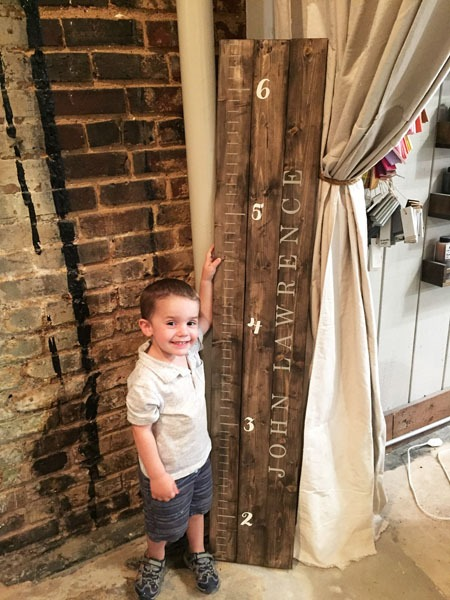 growth chart plank sign 10.5x60