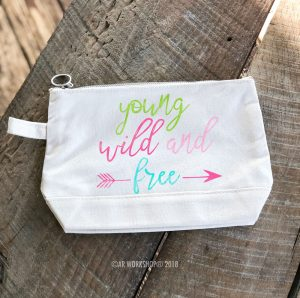 Young Wild and Free Makeup Case