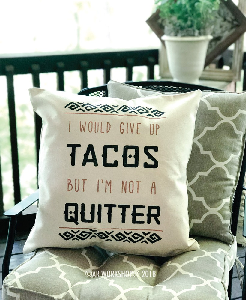 I would give up tacos pillow cover