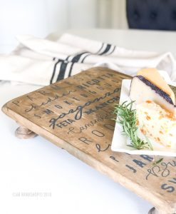gourmet cheese board pedestal tray 12x16