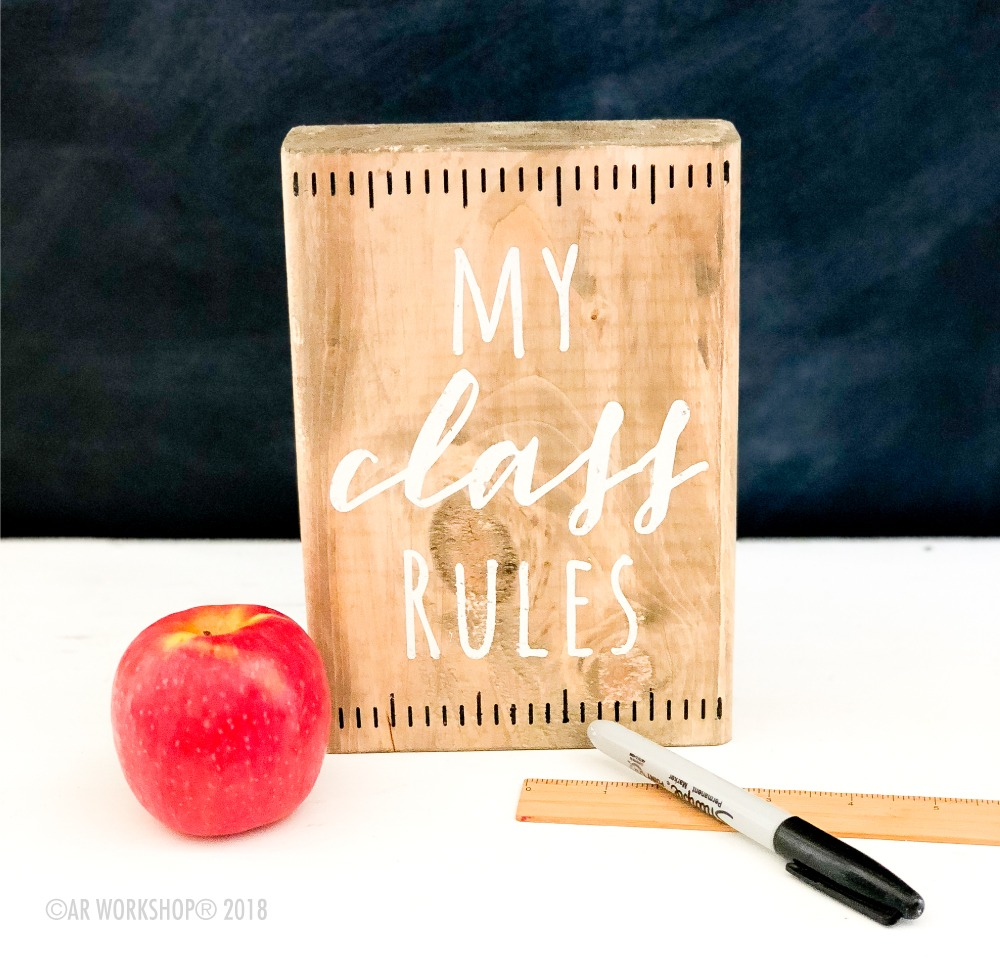 my class rules mini wood sign