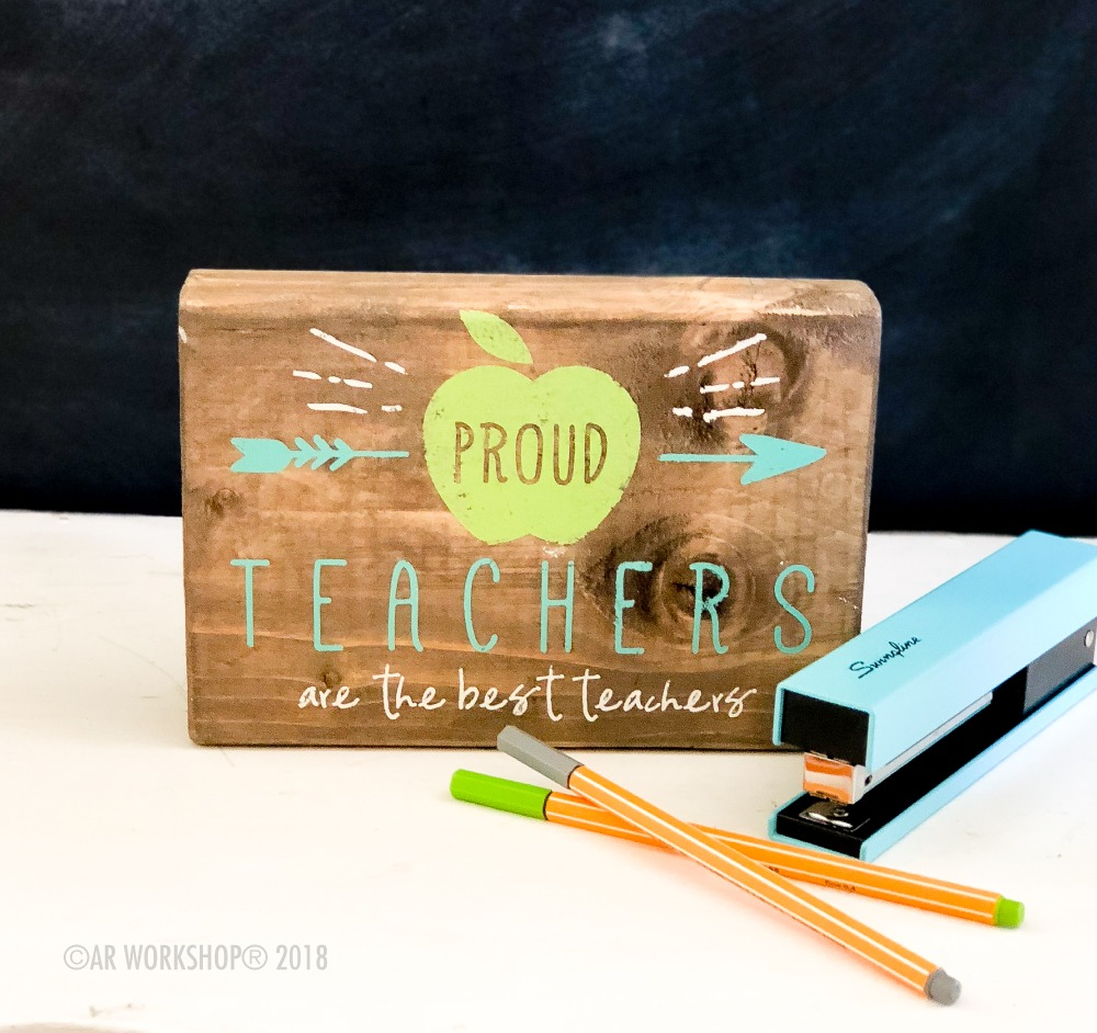 proud teachers are the best teachers mini wood sign