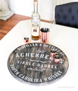whiskey barrel round lazy susan