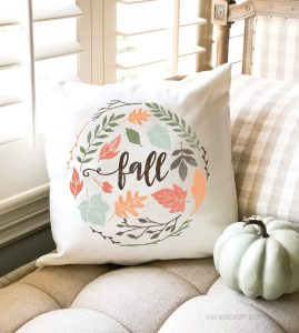 fall foliage pillow
