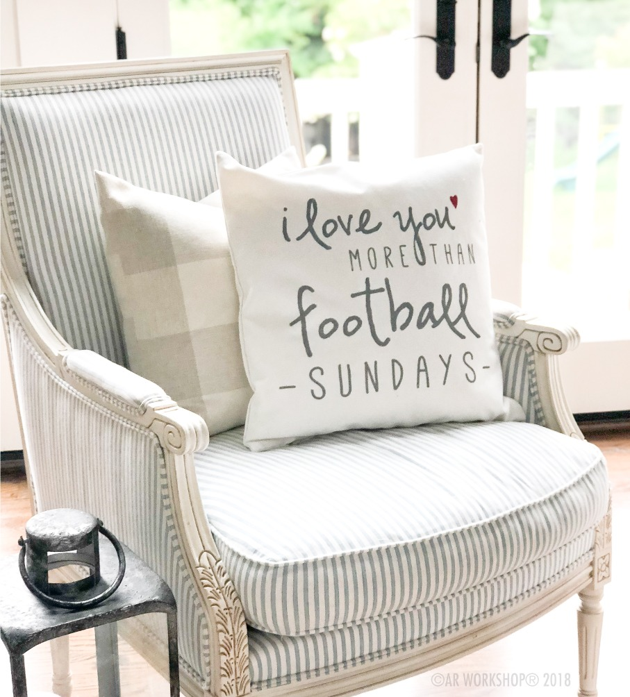 football sundays canvas pillow