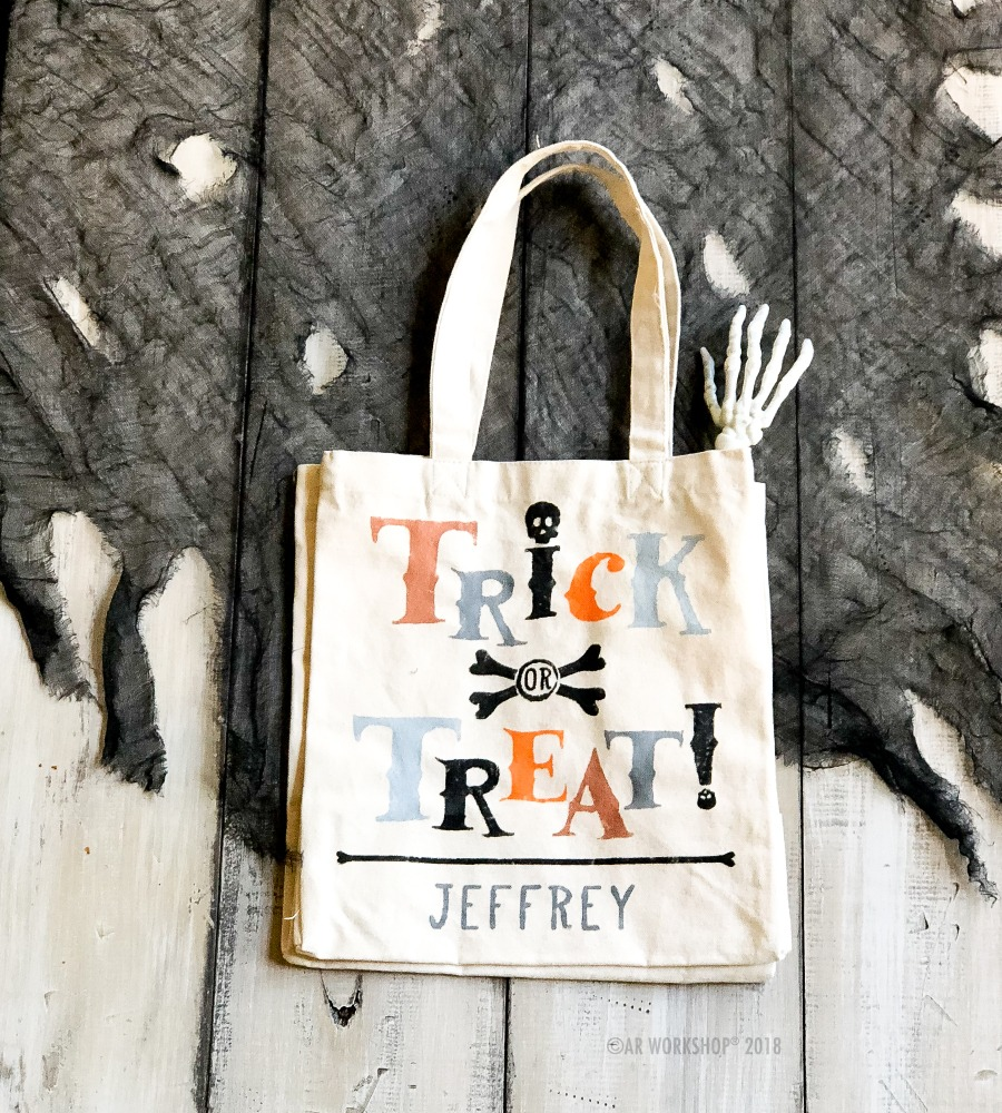 $15 Family Friendly Happy Halloween Trick or Treat Totes ...