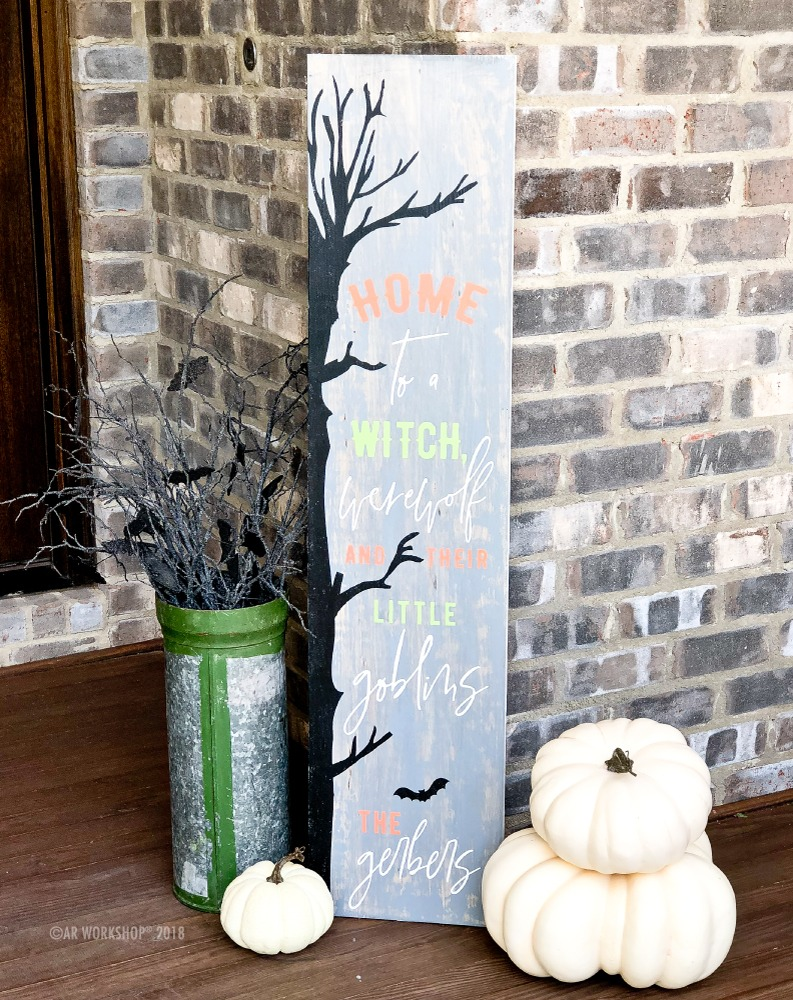 Witch Werewolf Goblins porch sign