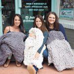 chunky blanket knitting class charlotte ar workshop