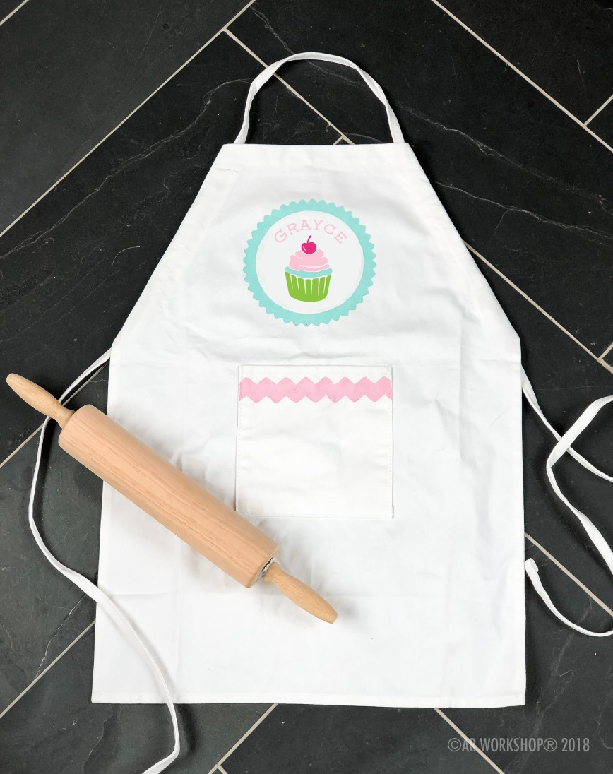 cupcake name kids apron