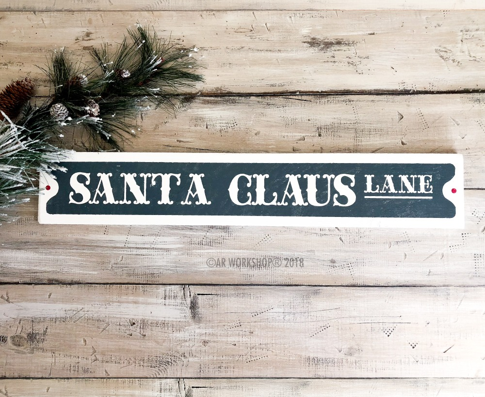 Santa Claus Lane Street Sign