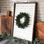 silent night lyrics framed sign 18x26 (wreath sold separately)
