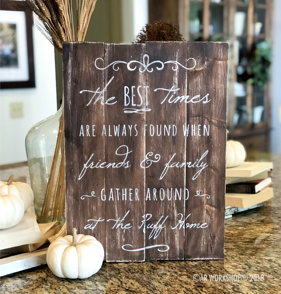The best times are always found plank sign 14x19
