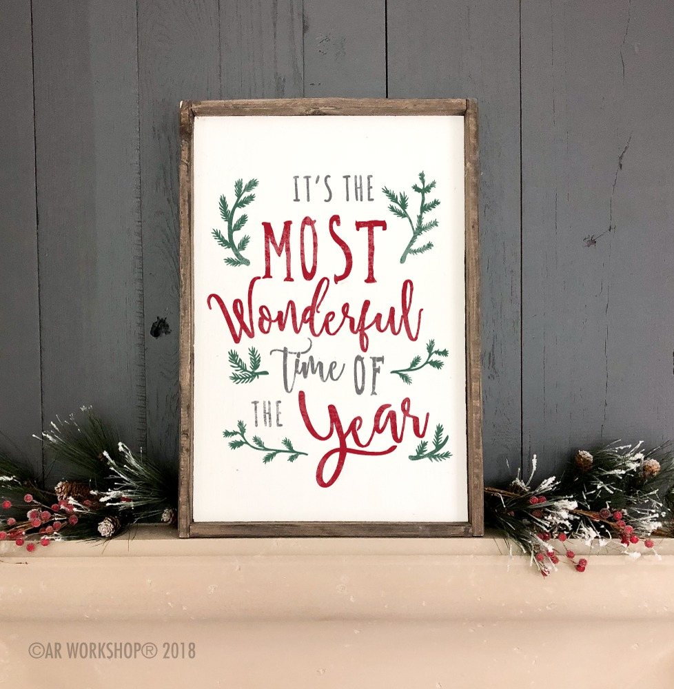 branches wonderful time of the year framed sign 18x26