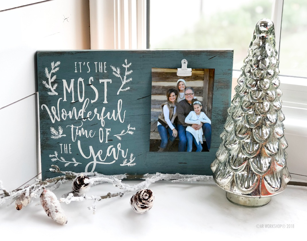 branches wonderful time of the year wood photo frame