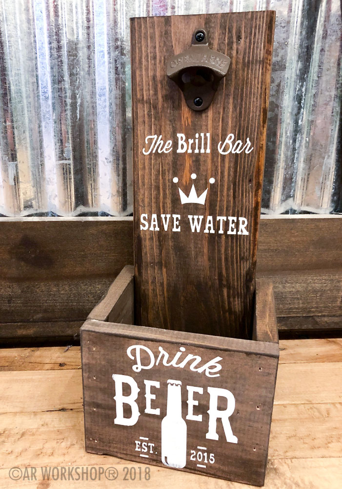 save water drink beer bottle opener box