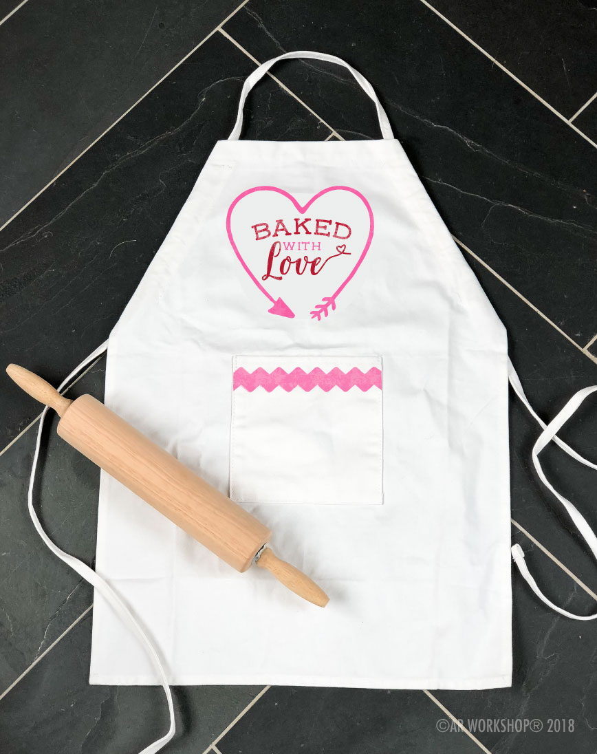 baked with love youth apron