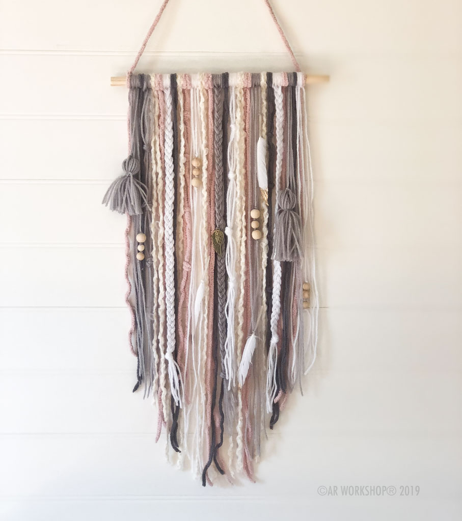 boho textile wall hanging neutrals