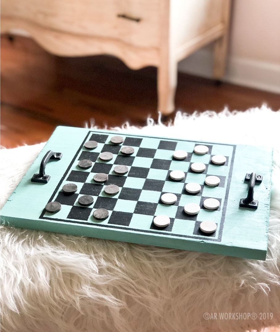 checkers wood game board 12x16