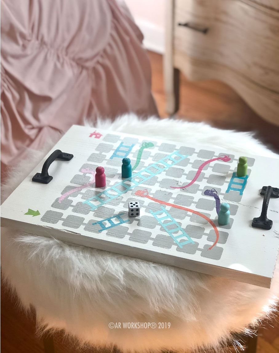 paints and ladders game board 12x16
